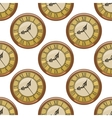 Seamless pattern of vintage clocks vector image
