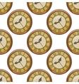 Seamless pattern of vintage clocks vector image vector image