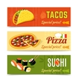 Food Banners Set vector image