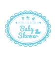 label of baby shower vector image