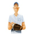 baseball player vector image vector image
