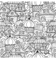 Cartoon fairy tale drawing russian village vector image