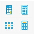 colorful calculator icons set vector image