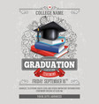 Graduation template vector image vector image
