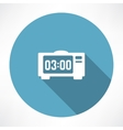 electronic clock icon vector image