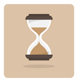flat icon hourglass vector image