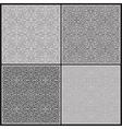 Grey patterns vector image