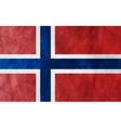 Grunge flag Norway vector image