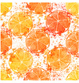 Hand drawn watercolor seamless pattern of lemon vector image