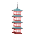 japan travel building culture icon vector image