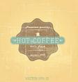 retro cofee label vector image