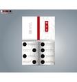 Brochure template for restaurant vector image