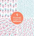 Floral patterns set 3 vector image vector image