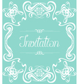 Flourishes Frame Invitation vector image vector image