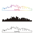 Sydney V2 skyline linear style with rainbow vector image vector image