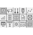 Symbols of mobile marketing website coding seo vector image vector image