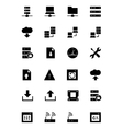 Database and Server Icons 1 vector image