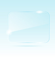 abstract transparent glass banner - vector image