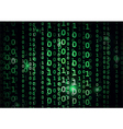 Binary code in abstract background vector image