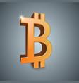 bitcoin 3d realistic icon vector image