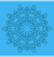 blue ornamental line pattern vector image