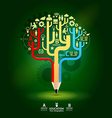 Creative pencil concept Growth Tree idea Modern te vector image