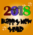 cute dog year greeting card material 2018 vector image