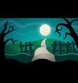halloween star road tree vector image