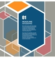 hexagon infographics set Template for vector image