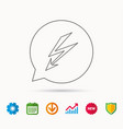 lightening bolt icon power supply sign vector image
