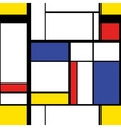 Modern painting in mondrian style seamless vector image