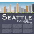 Seattle City Skyline vector image