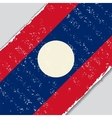 Laos grunge flag vector image