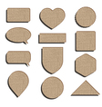 cardboard labels vector image