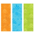 Cute background with decorative elements vector image vector image