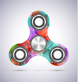 spinner colorful mosaic design with metal vector image vector image