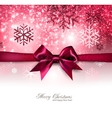 Elegant Christmas background with red bow vector image vector image