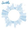 Outline Seattle City Skyline vector image