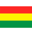Flag of Bolivia vector image