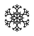 Snowflake simple icon vector image