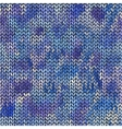 Seamless knitted hand drawn background vector image