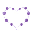 Abstract Purple Flowers in Beautiful Heart Shape vector image