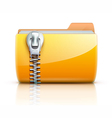 zip folder icon vector image