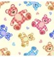 Seamless bear light patchwork pattern vector image vector image