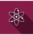 Atom icon with long shadow vector image