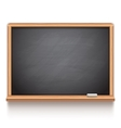 Black School Chalk Board vector image
