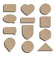 cardboard labels vector image