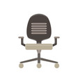 chair office icon furniture business isolated vector image