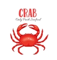 Crab in cartoon style vector image