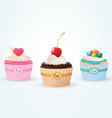 cup cakes vector image